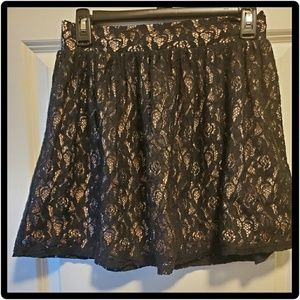 NEW black lace overlay skirt - SIZE 3